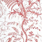 Brunschwig & Fils Tapet Bird and Thistle Red