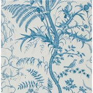 Brunschwig & Fils Tapet Bird and Thistle Blue