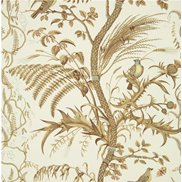 Brunschwig & Fils Tapet Bird and Thistle Beige