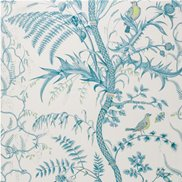 Brunschwig & Fils Tapet Bird and Thistle Aqua