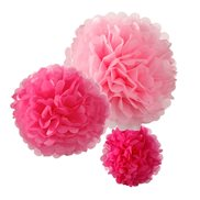 Talking Tables PomPoms Pink 3-pack