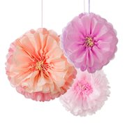 Talking Tables Pom Poms Flowers 3-pack