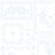 PiP Studio Tapet Cross Stitch White/Blue