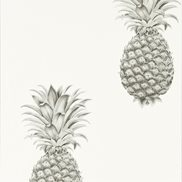 Tapet Pineapple Royale Silver/Ivory