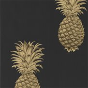 Tapet Pineapple Royale Graphite/Gold