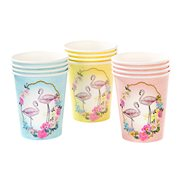 Talking Tables Pappmuggar Truly Flamingo 12-pack