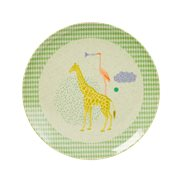 Rice Tallrik Baby Bamboo Animal