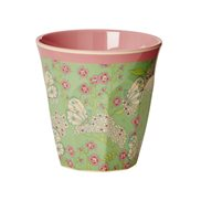 Rice Mugg Butterfly & Flower Small