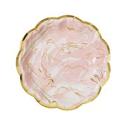Papptallrikar Party Porcelain Marble 18 cm