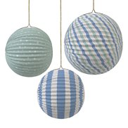 Paper Globe Pastel Blue 3-pack