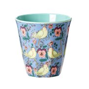 Rice Mugg Bird and Pansy Medium