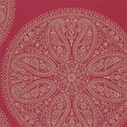 Tapet Paisley Circles Red