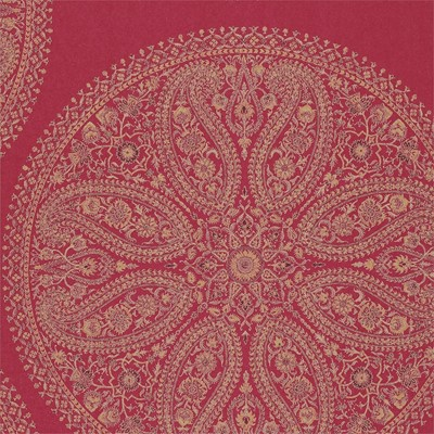 Sanderson Tapet Paisley Circles Red