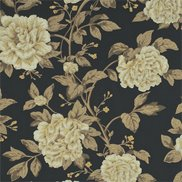 Sanderson Tapet Peony Tree Midnight Blue/Primrose
