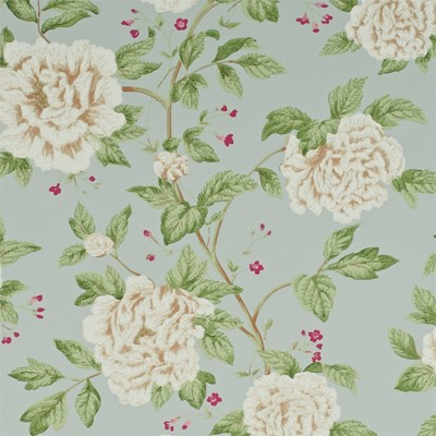 Sanderson Tapet Peony Tree Duck Egg/Cream