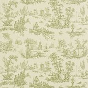 Tapet Courting Toile Cream/Sap Green