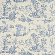 Tapet Courting Toile Cream/Blue