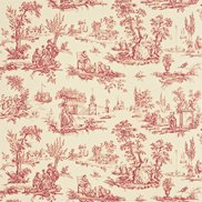 Sanderson Tapet Courting Toile Cream/Cerise