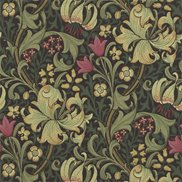 William Morris & Co Tapet Golden Lily Charcoal/Olive