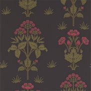 William Morris & Co Tapet Meadow Sweet Charcoal/Rose