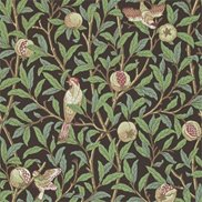 William Morris & Co Tapet Bird & Pomegranate Charcoal/Sage