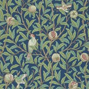 William Morris & Co Tapet Bird & Pomegranate Blue/Sage