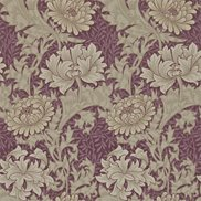 William Morris & Co Tapet Chrysanthemum Wine