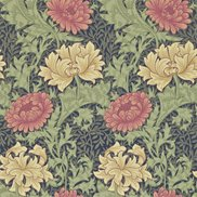 William Morris & Co Tapet Chrysanthemum Indigo