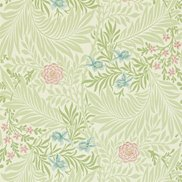 William Morris & Co Tapet Larkspur Green/Coral