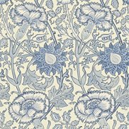 William Morris & Co Tapet Pink & Rose Indigo