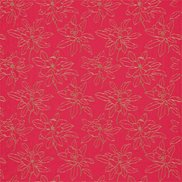 Sanderson Tyg Magnolia Embroidery Dark Rose