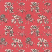 Tyg Etchings & Roses Coral/Metallic