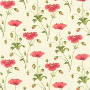 Tyg Persian Poppy Red/Green