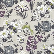 Designers Guild Tyg Lotus Flower Charcoal