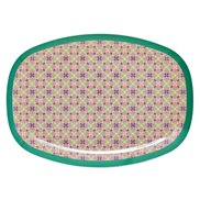 Rice Tallrik Oval Flower Tile