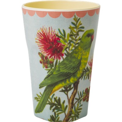 Rice Lattemugg Vintage Bird Lightblue