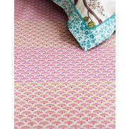 Lakan Blooming Tiles Pink 90x200 cm