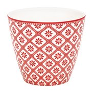 GreenGate Lattemugg Bianca Red