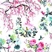 Designers Guild Tyg Chinoiserie Flower Peony