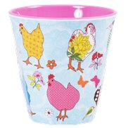 Rice Mugg Hen Light Blue Medium