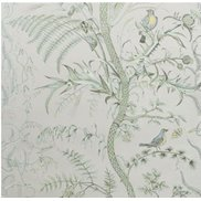 Brunschwig & Fils Tapet Bird and Thistle Silver