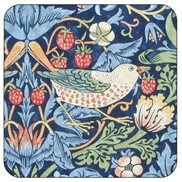 William Morris & Co Glasunderlägg Strawberry Thief Blue