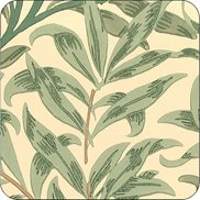 William Morris & Co Glasunderlägg Willow Boughs Green