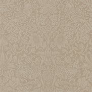 William Morris & Co Tapet Pure Strawberry theif Taupe/Gilver