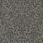 William Morris & Co Tapet Pure Acorn Charcoal/Gilver