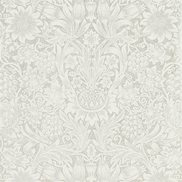 William Morris & Co Tapet Pure Sunflower Chalk/Silver