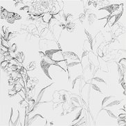 Designers Guild Tapet Sibylla Garden Black and White