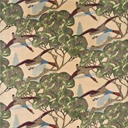 Mulberry Home Tyg Flying Ducks Velvet Camel