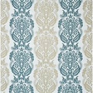Mulberry Home Tyg Staveley Damask Teal/Caramel