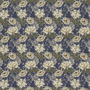 William Morris & Co Tyg Chrysanthemum Indigo/Cream